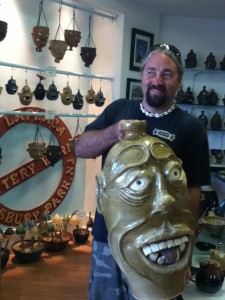 LaPlaca with one of his unique Face Jugs