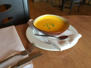 Glazed carrot soup at Graze in Little Silver
